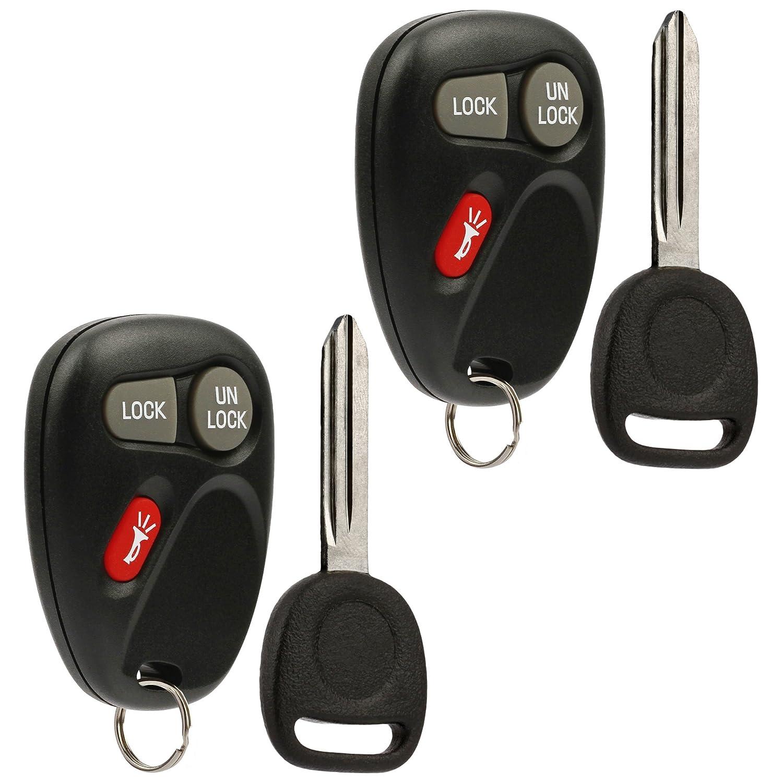 Key Fob Keyless Entry Remote with Ignition Key fits Chevy Astro Blazer S10  Silverado Suburban Tahoe / GMC Jimmy Safari Sierra Sonoma Yukon /
