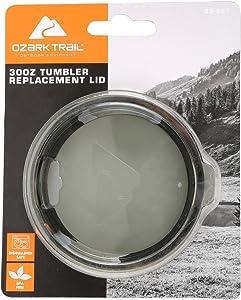 Ozark Trail 30 oz Tumbler Replacement Lid, Smoke Gray