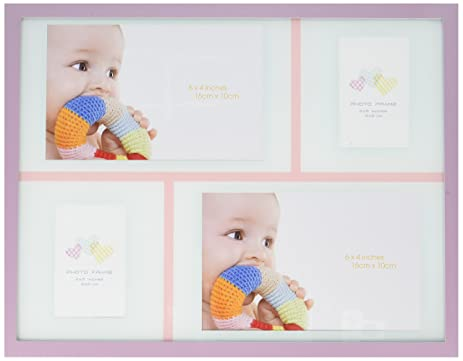 Amazon.com - Baby Girl Collage Aluminum Photo Frame -