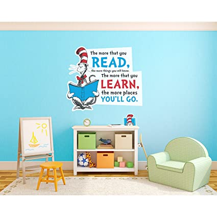 BirthdayExpress Dr. Seuss Cat in The Hat Inspirational Quote Giant ...