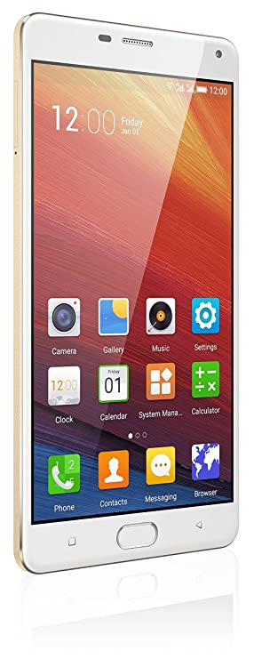 Gionee Marathon M5 Plus Smart Phone, Polar Gold Smartphones at amazon