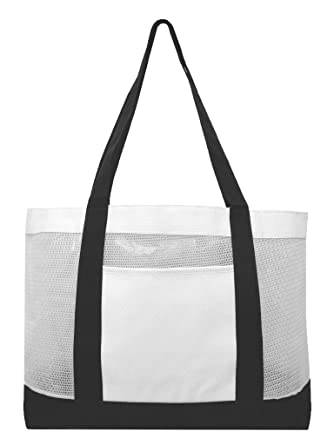 Amazon.com | Mesh Work Tote/Beach Tote Bag/Swimming Tote Bag ...