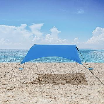 Ombrelloni Da Spiaggia Grandi.Mencom Tenda Da Spiaggia Anti Uv Tenda Da Sole Spf50 Con Ancoraggio Sacchetti Di Sabbia Ombrellone Da Spiaggia Grande Per Bambini E Famiglia In Spiaggia Parchi Camping E Outdoor Amazon It Sport E