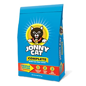 JONNY CAT Complete Multi-Cat Clay Litter Bag, 20-Pound