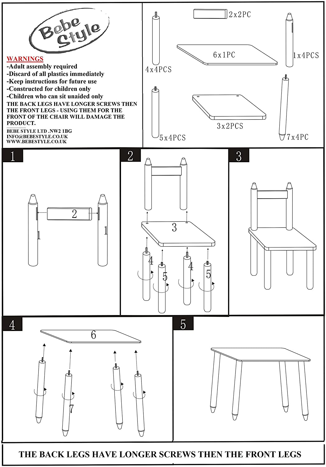 Table drawing for kids - Amazon Com Bebe Style Childrens Wooden Crayon Themed Table And Chair Set Easy To Assemble No Tools Required Baby