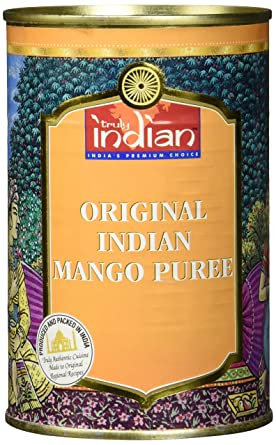 Truly Indian Mango Puree Indisches Gezuckertes Obst Puree Fur Desserts Und Saucen 3 X 450 G Amazon De Lebensmittel Getranke