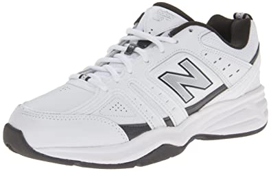 New Balance Men's MX409 Cross-Training Shoe,White/Grey,7 ...