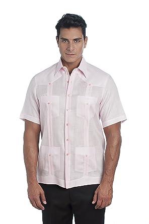 dd3b2481 ARCADIO DIAZ Men's 100% Irish Linen Classic Guayabera Short Sleeve at  Amazon Men's Clothing store: