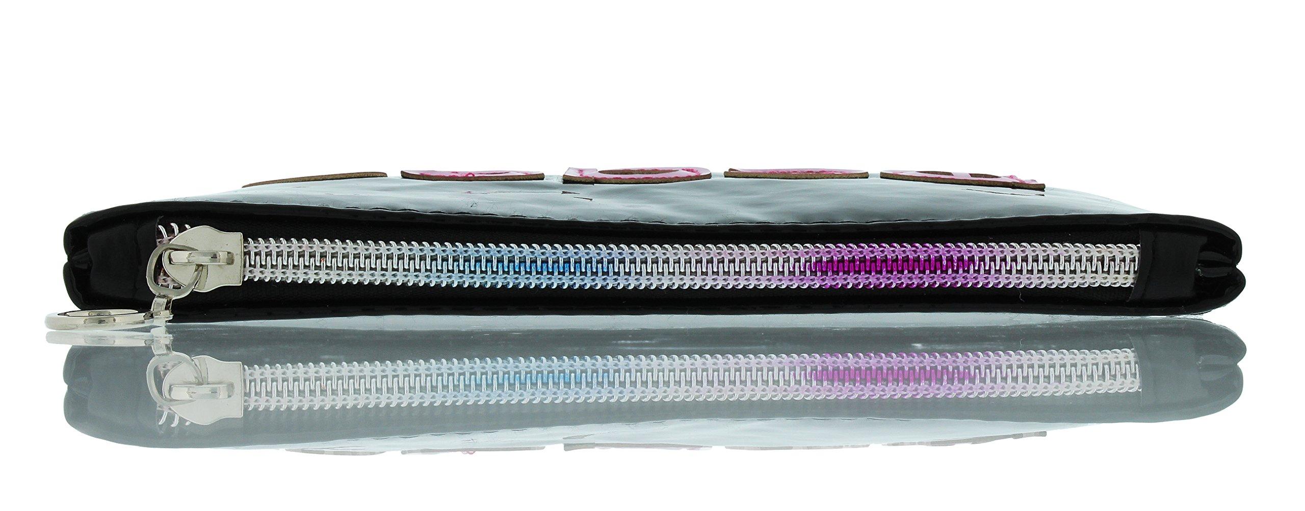 Evolution Eyes Whims Shiny Vinyl Padded Multipurpose Zipper Case Pouch, Peace by Evolution Eyes (Image #4)