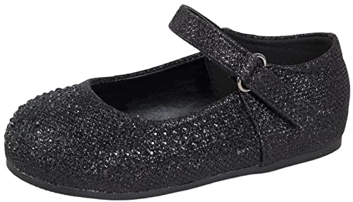 0da57c31ad6 Lora Dora Girls Ballet Pumps Mary Jane Diamante Glitter Bridesmaids ...