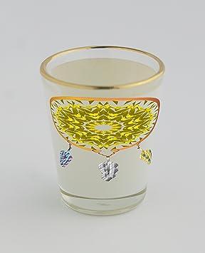 Vasos de chupito con oro borde de un nativo americano Atrapasueños. La pluma viene de openclipart. Org detalle 189927 escala de grises de plumas.