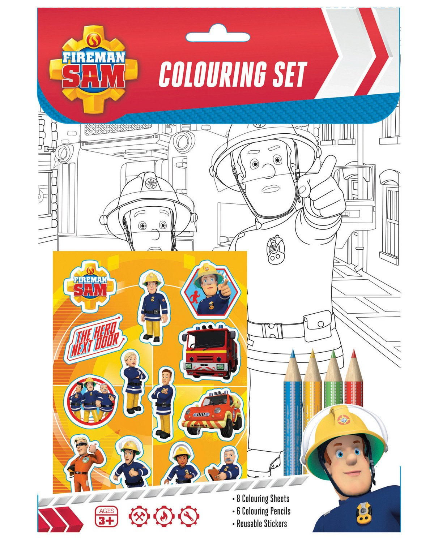anker fireman sam colouring set alligator books limited amazon