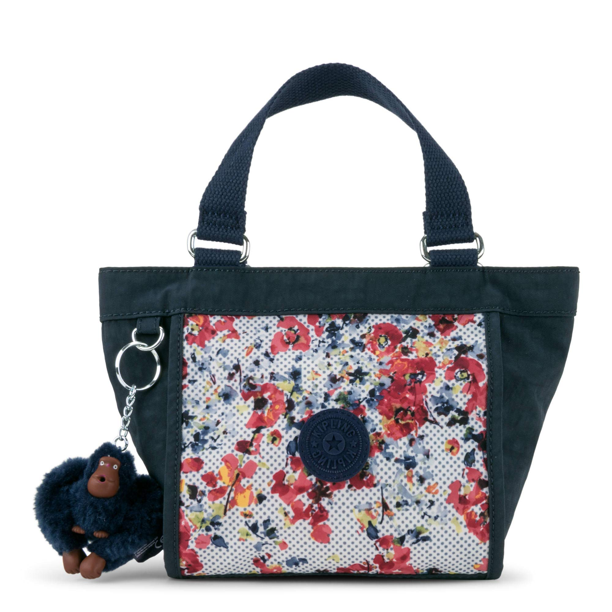 Kipling Shopper Printed Minibag, Busy Blossoms Blue Combo