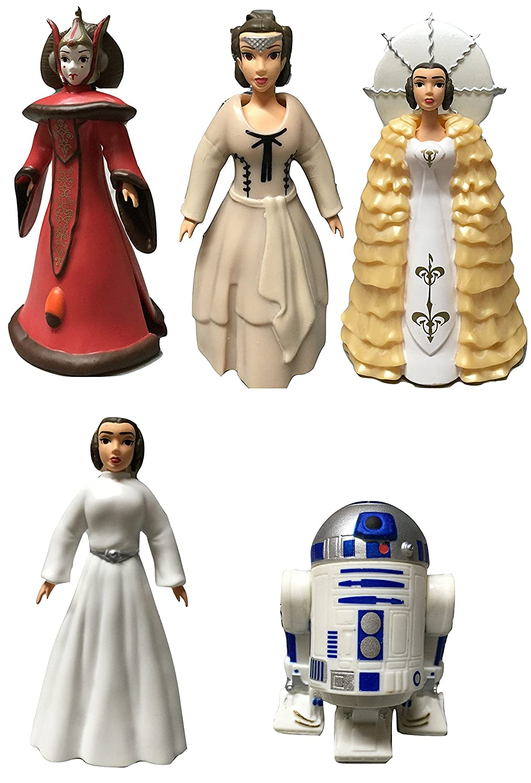 Amazon.com: Disney Star Wars Queen Amidala and Princess Leia Figures ...