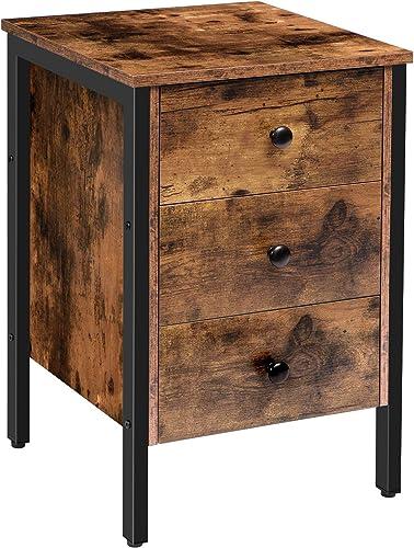 HOOBRO Nightstand Rustic End Table