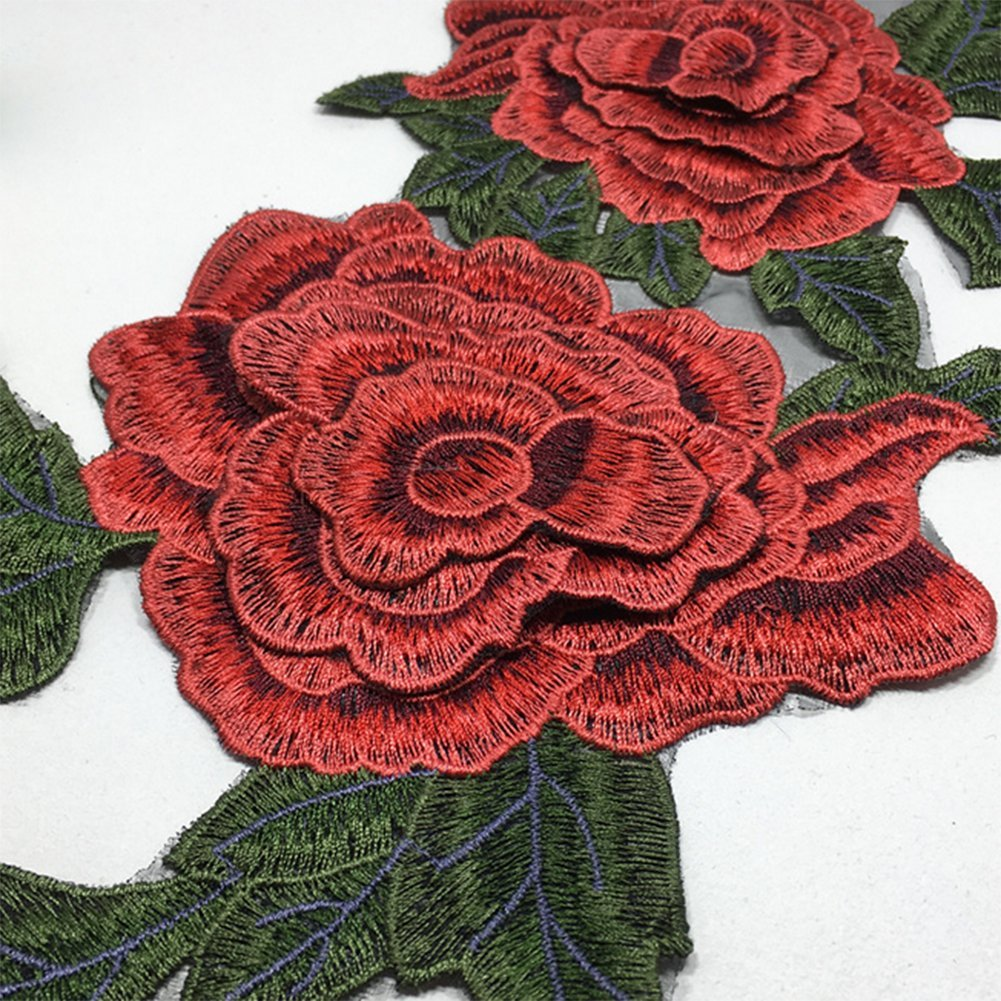Cdet Pegatinas de Tela Tridimensional Flores de peonía Hilado Bordado Parche calcomanías Accesorios de Vestir Coser Flores Collar,Estilo 1: Amazon.es: Hogar