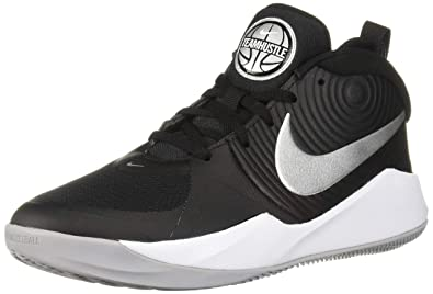 huge discount f0c1d 0e042 Nike Unisex Team Hustle D 9 (GS) Sneaker, Black Metallic Silver -