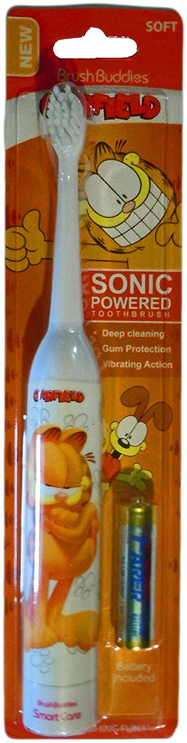 Amazon.com: Garfield Brush Buddies Sonic Powered Electric Toothbrush (4 Pack): Health & Personal Care
