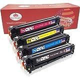 Toner Kingdom 4 Paquete Compatible CF400X CF401X CF402X CF403X 201X Cartucho de tóner para HP Color LaserJet Pro MFP M277dw M277n M252dw M252n Impresora (1 Negro,1 Cian,1 Amarillo,1 Magenta)