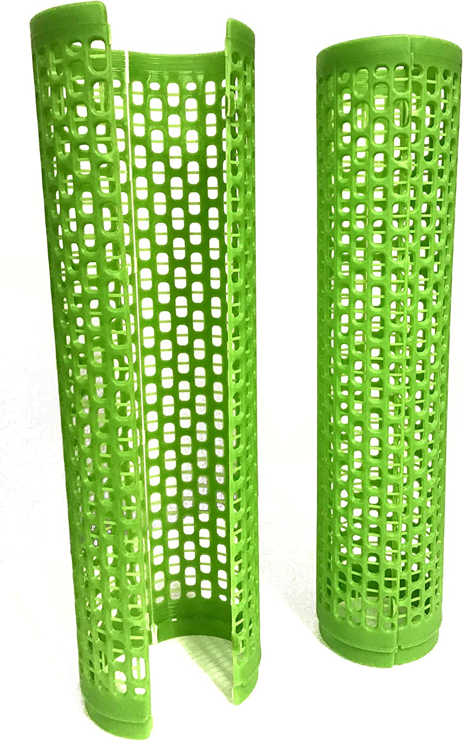 Orchard Innovations Tree Shield Grow Tube - Open Cell (Green), 15 inches Tall, 6 Count; UV-stabilized for Long-Life, Protect Trees from Small Animals, Trimmers, Made in USA
