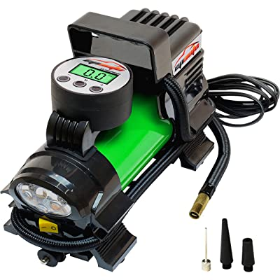 EPAUTO 12V DC Portable Air Compressor Pump, Digital Tire Inflator: Automotive