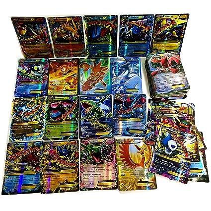 Dorara 100 Tarjetas (80EX + 20MEGA) Pokemon EX Mega Tarjetas ...