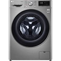 LG 10 Kg 1400 RPM Front Load Washing Machine, Stainless Silver - F4V5RYP2T