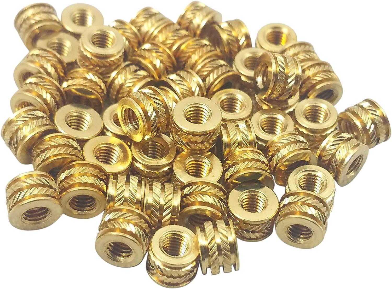 Qty 500 M3 3mm M3-0.5 Brass Threaded Metal Heat Set Screw Inserts 3D Printing