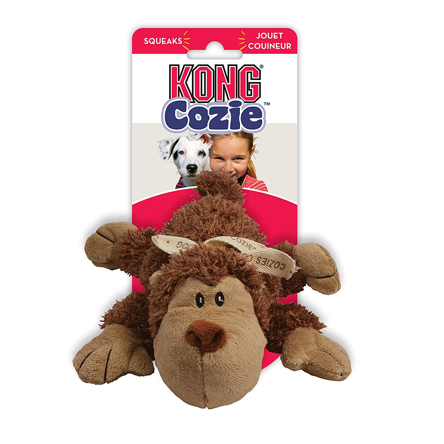 KONG Cozie Naturals Dog Toy, Medium (1 Supplied, Colours May Vary)
