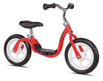 side facing red kazam v2e balance bike