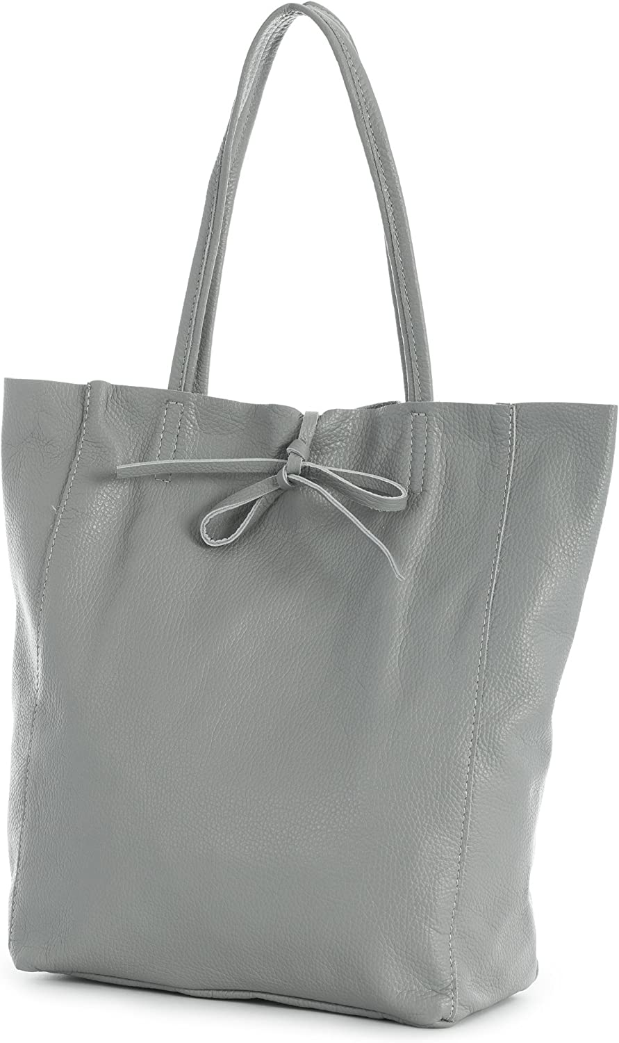 ASTRID LIATALIA Genuine Italian Soft Leather Leightweight Large Hobo Tote Shopper Shoulder Handbag