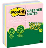 Post-it Greener Notes, 3 in x 3 in, Helsinki Collection, 24 Pads/Pack, 100 Sheets/Pad (654RP-24AP)