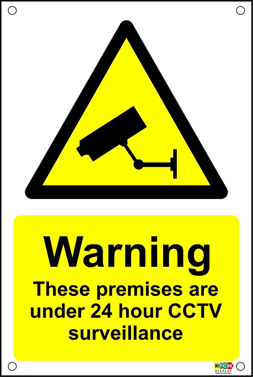 warning premises protected 24 hour cctv surveillance a5 plastic pre drilled sign - Designer Electric Wall Heaters