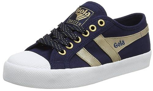 Gola Coaster Mirror, Zapatillas para Mujer, Azul (Navy/Gold EY), 39 EU