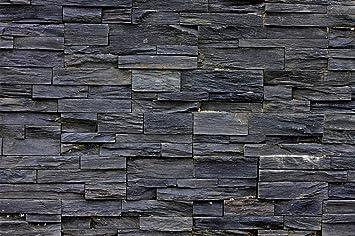 Fototapete 3d Effekt Black Stonewall Wandbild Dekoration Tapete In  Steinoptik Schwarz Steinwand Wohnzimmer 3d Tapete Stein