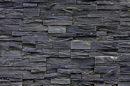 picture wallpaper 3d effect black stonewall mural decoration