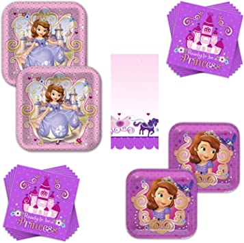 Amazon.com: Sofia The First Dinnerware Bundle – Sirve a 16 ...