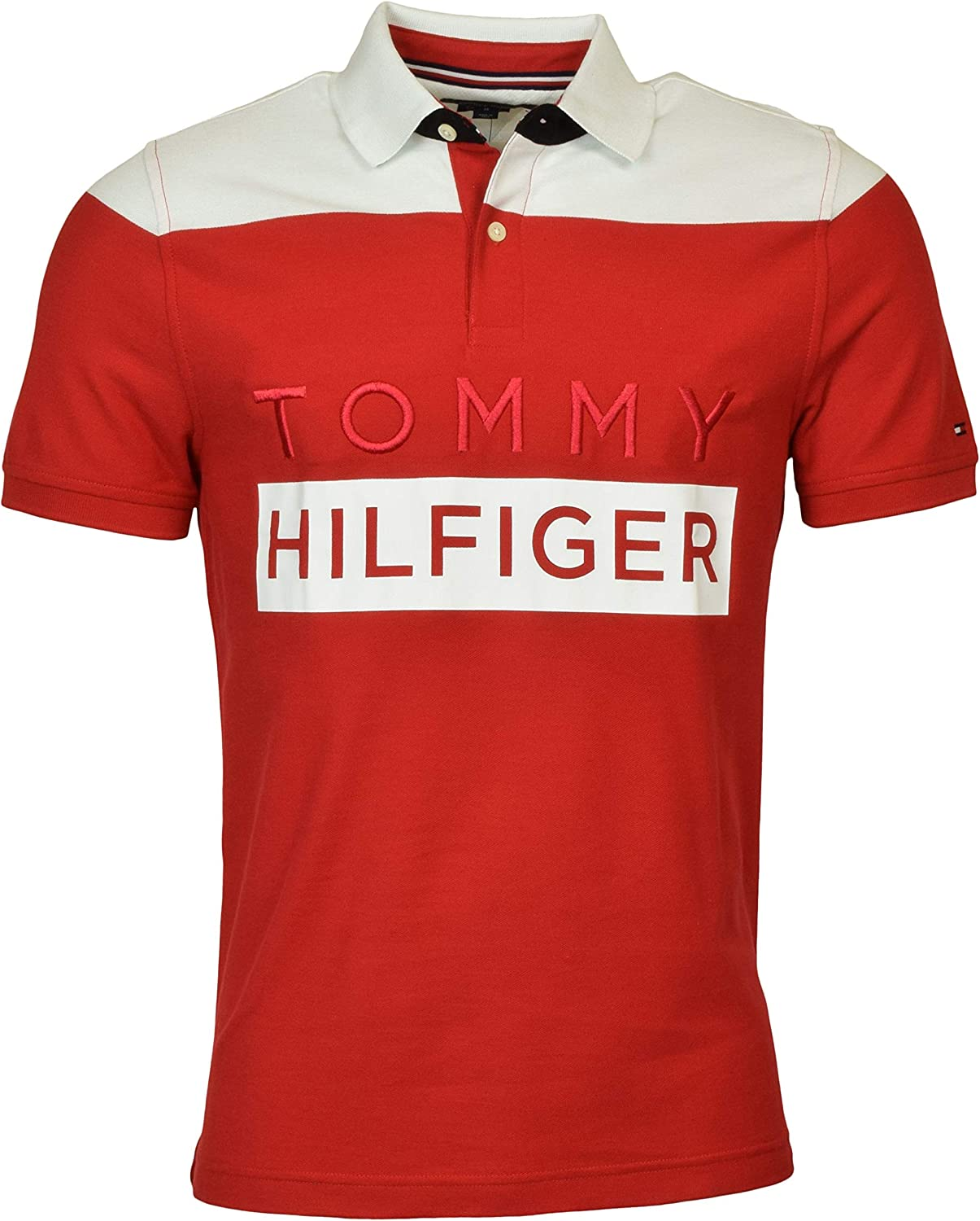 Tommy Hilfiger Men's Custom Fit Performance Logo Polo Shirt