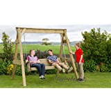 Wooden Garden Swing 2 & 3 Seat Chair Seat Hammock Bench Furniture Lounger (3 Seater Swing)