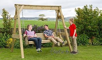 Great Wooden Garden Swing 2 U0026 3 Seat Chair Seat Hammock Bench Furniture Lounger  (3 Seater