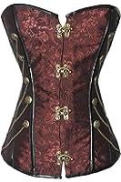 r-dessous Vintage Corsage braun Korsett Shirt Bustier Korsage Top Steampunk Corsagentop Gothic große Größen