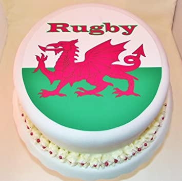Welsh Rugby Cake Topper