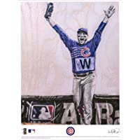 """$38 » Anthony Rizzo Chicago Cubs 2016 World Series Artist Signed 8"""" x 10"""" Last Out Photograph - Lauren Taylor Illustrations - Autographed MLB Photos"""