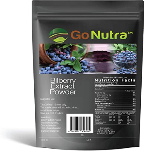 Bilberry Fruit Powder 4 1 Extract 4X Stronger Antioxident 1 lb