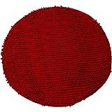 Luxbon Chenille Teppiche Stopp Antirutschmatte Badteppich Fußmatte Boden Sofa Matte Modern Dunkel-Rot Rund Ø 60 cm