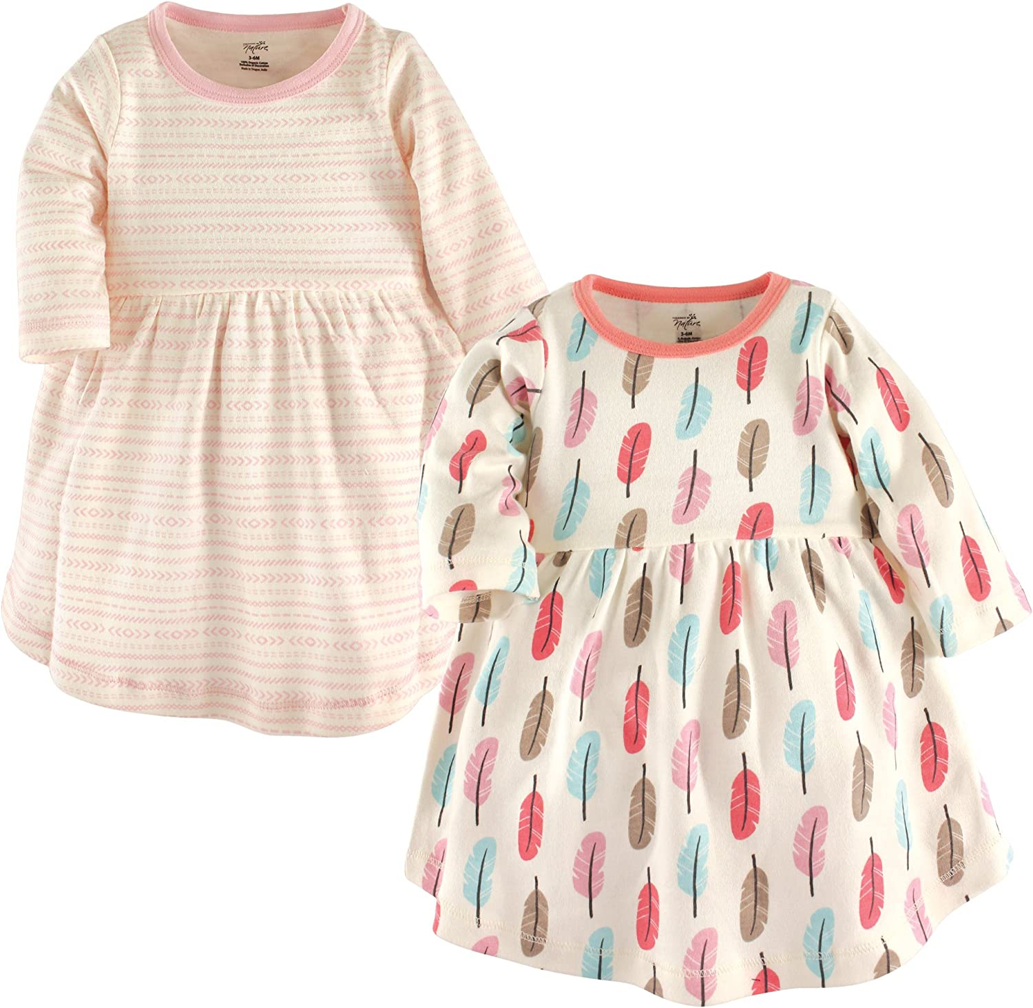 Touched by Nature Girls' Organic Cotton Long-Sleeve Dresses