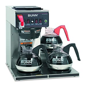 Bunn 12950.0212 CWTF15-3 Automatic Commercial Coffee Brewer with 3 Lower Warmers (120V)