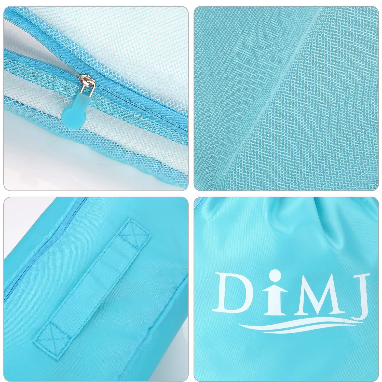 Dark Blue 8Pcs Compression Travel Cubes Set Foldable Suitcase Organizer Lightweight Luggage Storage Bag 7 Colors Options DIMJ Packing Cubes for Travel