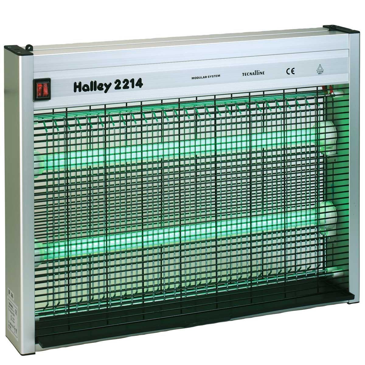 Halley 299807-LO Elektrischer Fliegenvernichter 2214, CE IP44, grün mit Lockstoff 100 g