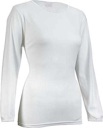 Rosette - Camiseta interior de manga 3/4 para mujer, suave y sin costuras, 100% algodón: Amazon.es: Ropa y accesorios